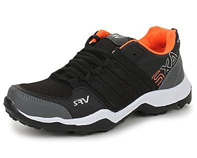 TRASE SRV Parker Black/Orange Kids/Boys Sports Running Shoes-2C IND/UK