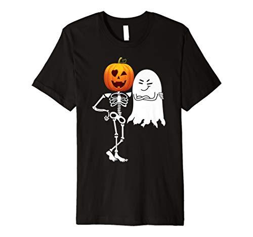 Kürbis Skelett und Boos lustiges Halloween Geschenk T-Shirt