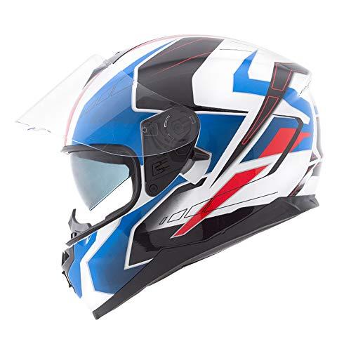 Casco-Moto-Doppia-Lente-Traspirabilit-Casco-Integrale-Unisex-adulto-Sicurezza-Tappo-Freddo