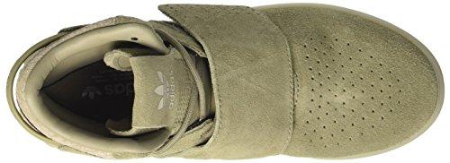 adidas Tubular Invader Strap, Sneaker a Collo Basso Unisex – Adulto Grigio (Trace Cargo/Trace Cargo/Sesame)