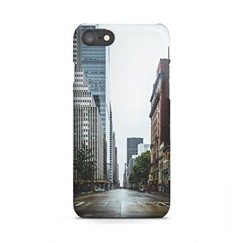 artboxONE Apple iPhone 7 Premium-Case Handyhülle Empty Streets in New York von Thomas Richter
