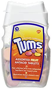 Tums Assorted Fruit Antacid Tablet, 75 Tablets