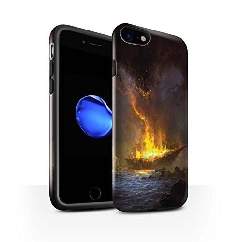 Offiziell Chris Cold Hülle / Glanz Harten Stoßfest Case für Apple iPhone 7 / Baum des Wissens Muster / Gefallene Erde Kollektion Schiffswrack
