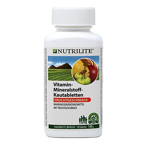 Täglich Kautabletten (Vitamin-Mineralstoff-Kautabletten NUTRILITETM - 120 Kautabletten / 148 g - Amway - (Art.-Nr.: 100930))