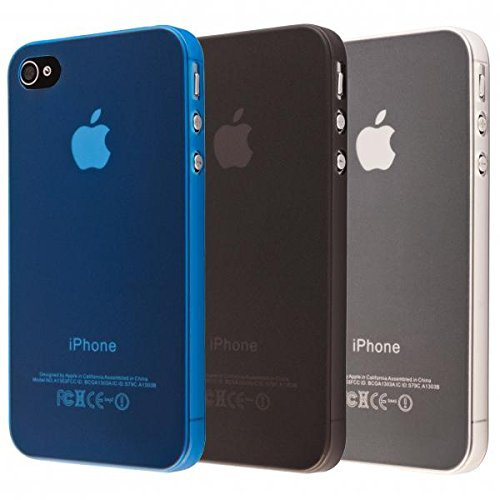 ECENCE APPLE IPHONE 4 4S SET DI 3 CUSTODIA PROTETTIVA MORBIDA CASE COVER 41030401