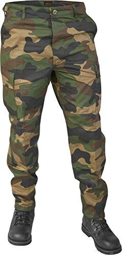 Lange Jagdhose Jägerhose aus robustem Baumwollmischgewebe in verschiedenen Farben? Farbe Woodland Größe XL (Bekleidung Armee)