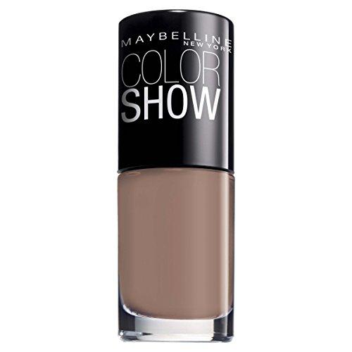 Maybelline ColorShow Nagellack, Nr. 150 Mauve Kiss, bringt die Laufsteg-Trends aus New York auf die Nägel, in zartem grau-braun, 7 ml - New York Werfen