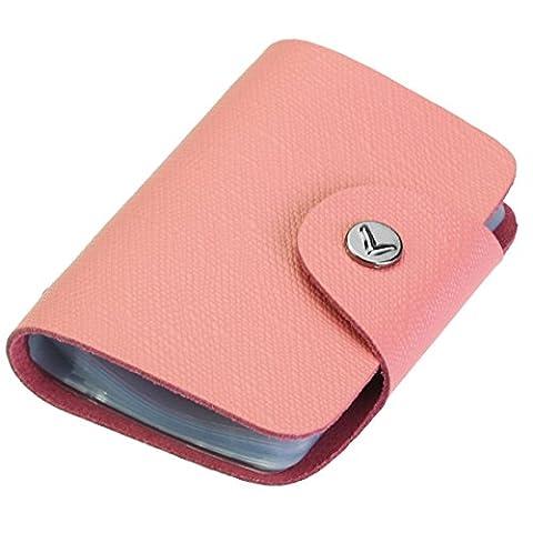 kilofly credit card holder–Retro Style With 26Card Pockets, with Mini Card rose Misura unica