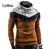 UJUNAOR Herbst Männer Langarm Hoodie Hooded Sweatshirt Tops Jacke Mantel Outwear(EU S/CN M,Kaffee)