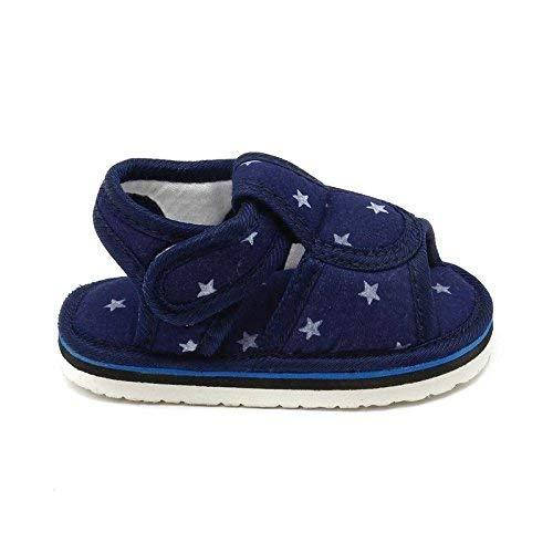 CHiU Baby Boy'S & Baby Girl'S Blue Cotton Sandal - 12-15 Months