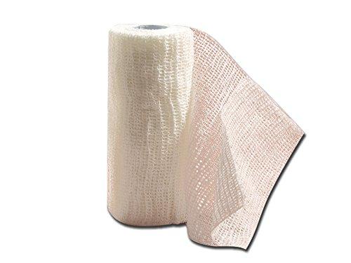 Bende elastiche coesive:- Per il fissaggio della medicazione- Per bendaggi di sostegno leggero e nel trattamento di fratture leggere- Non necessita di fermagli o cerotti poiché perfettamente aderente- Composizione:- 42% cotone- 29% viscosa- 29% polia...