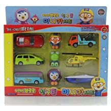Pororo porong porong Die Cast Collection Of Vehicles