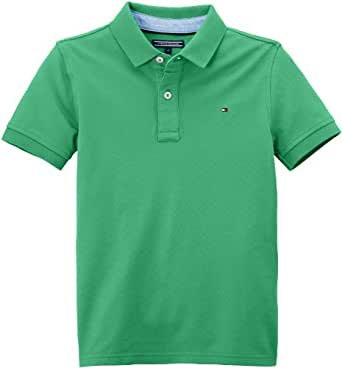 Tommy Hilfiger Boy's TOMMY POLO S/S T-Shirt  - Green - Vert (Spring Bud) - 12 years (Brand size:  12 ans)