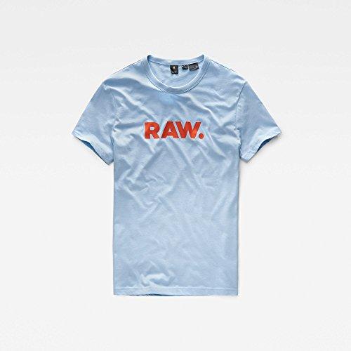 G-STAR RAW Herren T-Shirt Holorn R T S/S Blau (Sea 366)