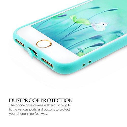 iPhone 7 Hülle, iPhone 7 Silikon Schutzhülle, Anfire Candy Handy Case Hülle für Apple iPhone 7 (4.7 Zoll) Liebe Herz Muster Weich TPU Silikon Schutzhülle Schön Muster Schale Tasche Ultradünnen Etui An Blau