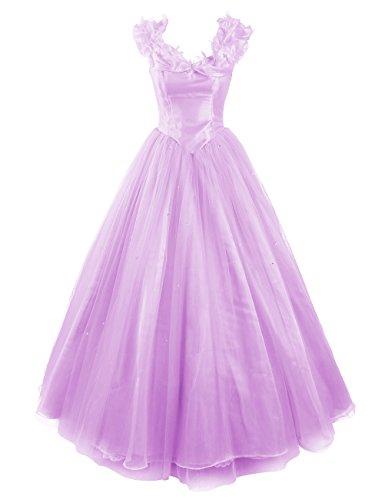 Dresstells, Robe de Cendrillon, robe de cérémonie/soirée/bal longueur ras du sol, mode de bal Lavande