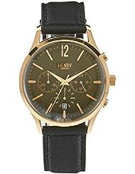 Henry de Londres Unisex Reloj de pulsera Chiswick Cronógrafo Cuarzo Piel hl41de CS de 0106