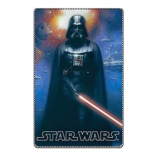 SquishyBean officiel Star Wars Darth Vader Couverture polaire Lit simple de dimension StarWars Darth-vader Couverture 100 cm x 150 cm Plaid en polaire Star-Wars Darthvader Couverture