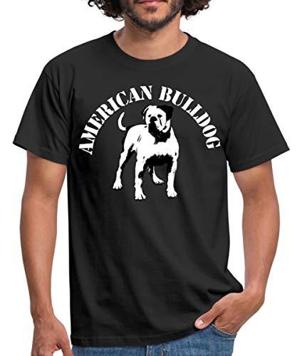 Spreadshirt American Bulldog 02 Männer T-Shirt, 3XL, Schwarz -