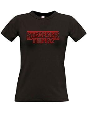 B & C Camiseta Mujer Stranger Things Chica Algodon Calidad Premium 190grs