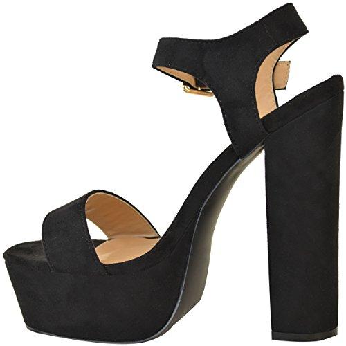 Sandali neri con punta aperta per donna Fashion thirsty 6r3U45h