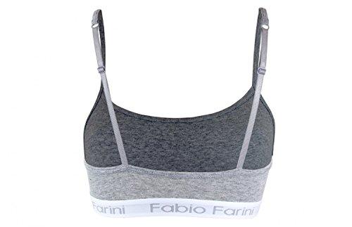 Fabio Farini Soutien-gorge de sport - Bralette en 3 couleurs différents Gris