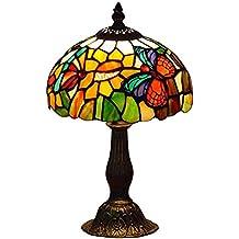 Mariposas Lámpara de Mesa Tiffany,Multicolor,8-Pulgada Diámetro ...