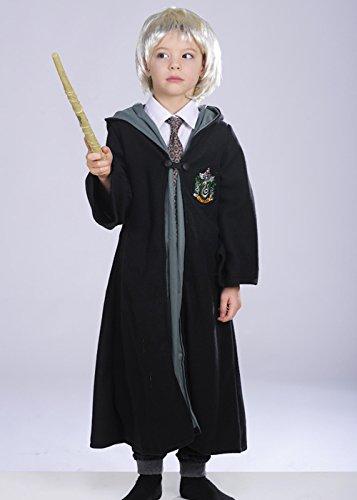 Kinder Draco Malfoy Stil Kostüm mit Perücke Medium (5-7yrs)