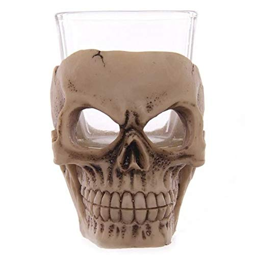 ekoration 3D Schädel KopfTasse Wein Becher Drinkware Halloween Party & Bar Trinken Whiskey & Brandy & Kung Fu TeeGlas Bären Cups Decor Wesentlich ()