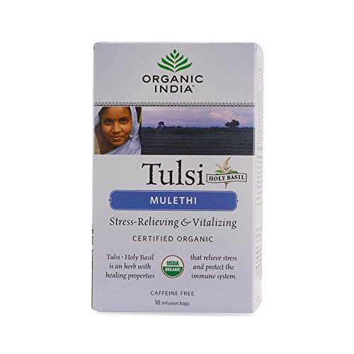 Organic India Tulsi Mulethi - 18 Tea Bags  available at amazon for Rs.138