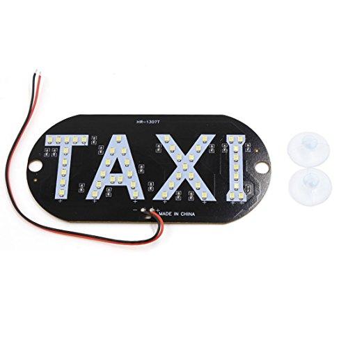 sourcingmap® Pare-brise pare-brise auto voiture SMD Blanc signe cabine 45 Taxi LED Lampe lumière