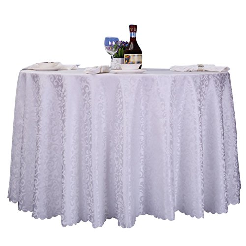 Heheja jacquard damascata tovaglia rotonda albergo ristorante tovaglia bianca 320cm