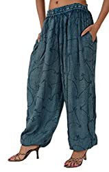 Skirts & Scarves Womens Rayon Casual Harem / Yoga Pant / Pajama (Blue)