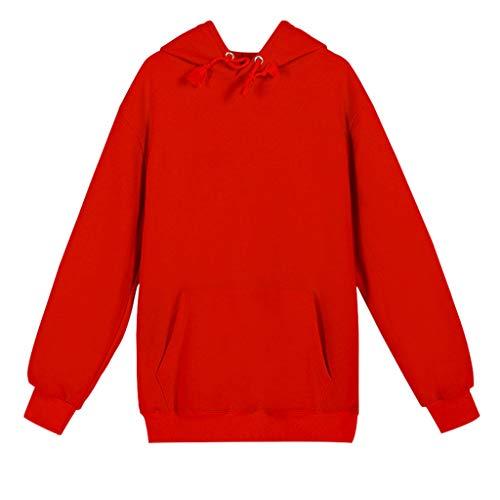 KPILP Herren Langarm Hoodie T-Shirt Kapuzenpullover Einfarbig Basic Hooded Pullover Männer Kapuzensweater Hoodies Mit Kapuze Sport Sweatshirt in Vielen Farben