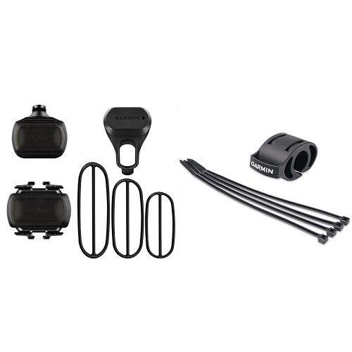 Preisvergleich Produktbild Garmin Geschwindigkeits- und Trittfrequenzsensor mit schneller und einfacher Montage & Garmin Fahrradhalterung für Sportuhren - einfache Montage