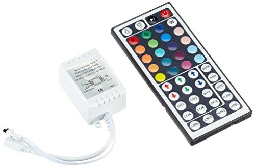 Sienoc LED RGB Strip IR Remote Controller Fernbedienung Kontroller Steuerung für 3528 5050 IP 65 LED Streifen Licht IR RF Controller Steuerung Fernbedienung Touch-Funktion LED RGB Strip DC12V (44 key)
