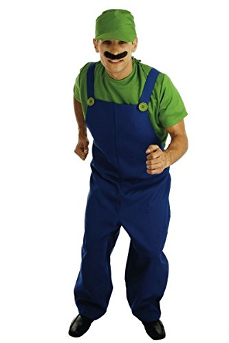 Fun Shack Adult 80's Plumbers Mate Green Costume - X LARGE