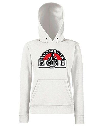 T-Shirtshock - Sweats a capuche Femme TAM0192 mma mixed martial arts hooded tshirt Blanc