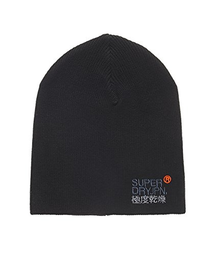 SUPERDRY Windhiker Embroidery Beanie, Cappello Unisex Adulto, Black02A, Taglia Unica