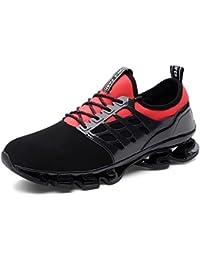 ZHShiny Uomo Sport Scarpe da Corsa Maglia Athletic Walking Fitness Trail  Traspirante Runners Fashion Springblade Sneakers c4e5bdcd223