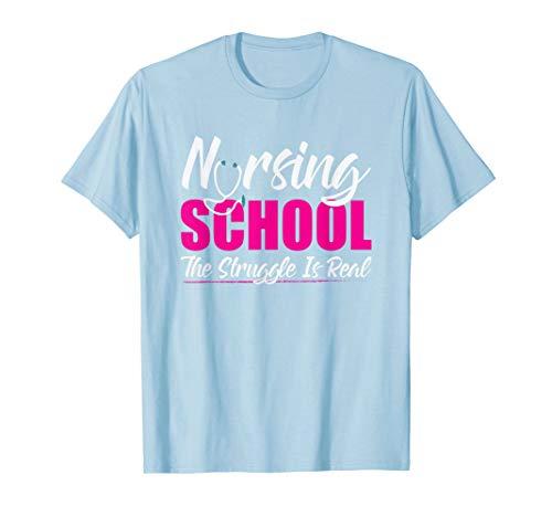 Krankenpflege-Schule Der Kampf ist wirklich Krankenschwester T-Shirt