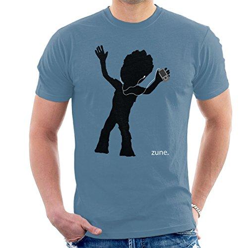 Guardians Of The Galaxy II Baby Groot Zune Advert Men's T-Shirt Indigo Blue