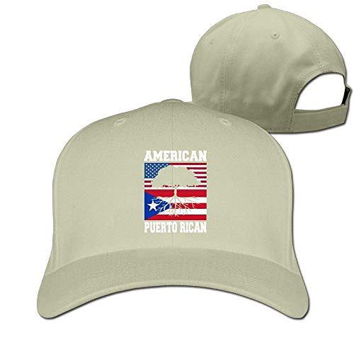 Pimkly Unisex Hüte,Baseballmützen, American Puerto Rican Flag Cotton Pure Color Baseball Cap Classic Adjustable Ball Hat