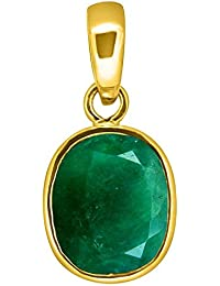 Accurate Traders Natural Panna Gemstone Panchdhatu Pendant 5 Ratti (4.6 carats) Rashi Ratna Origional and Certified by GEMOLOGICAL LABORATORY OF INDIA (GLI) Emerald Precious stone Panch Dhatu Locket Unheated and Untreated Top Quality Gems for Astrological Purpose