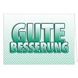 Große Grußkarte XXL (A4) Gute Besserung/GRÜN/mit Umschlag/Edle Design Klappkarte/Krank/Gesundheit/im Krankenhaus/Extra Groß/Edle Maxi Genesungskarte