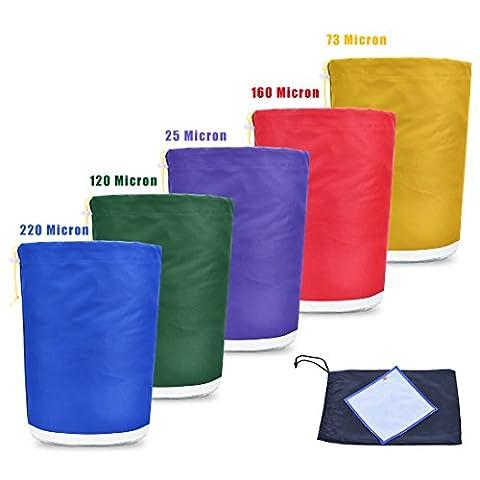 Healthline Hydroponic Hash Bubble Ice Bags 5 gallon x 5