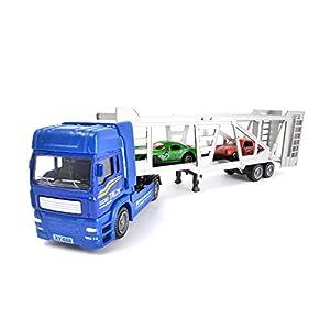 Wonderkids-89712-Camión de Transporte con 2Autos-Modelo Aleatorio