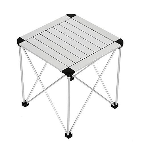ZA Tragbarer Klapp-Campingtisch, Aluminium-Leichtgewicht-Roll-Up-Tischplatte, quadratischer, kompakter, zusammenklappbarer Camp-Beistelltisch für Picknick-Grill am Strand, Outdoor-Kochen, Wandertisch, - Grill Za