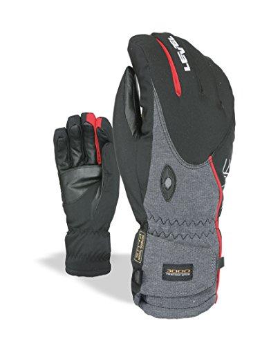 Level Herren Alpine Handschuh, Schwarz - Rot, 8.5