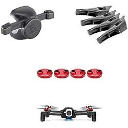 Tineer Accessories Kit Parrot Anafi Drone Protección Cap Moto Cover + Landing Gear Pierna Altura Extender + Gimbal Protección de cámara